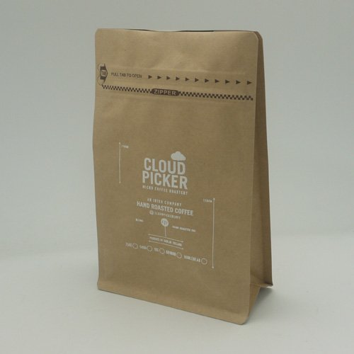 hot stamping kraft paper pouch