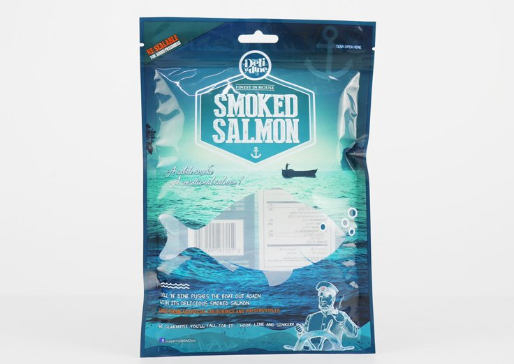 3 Side Seal Pouch with transparent window for food