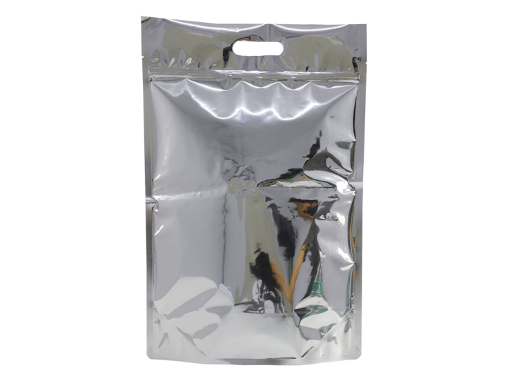stand up foil pouch with handle