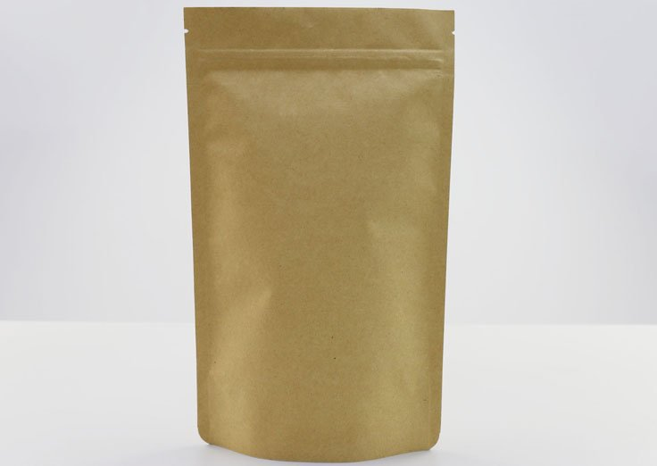 Stand Up Kraft Paper Pouches With Resealable Ziplock