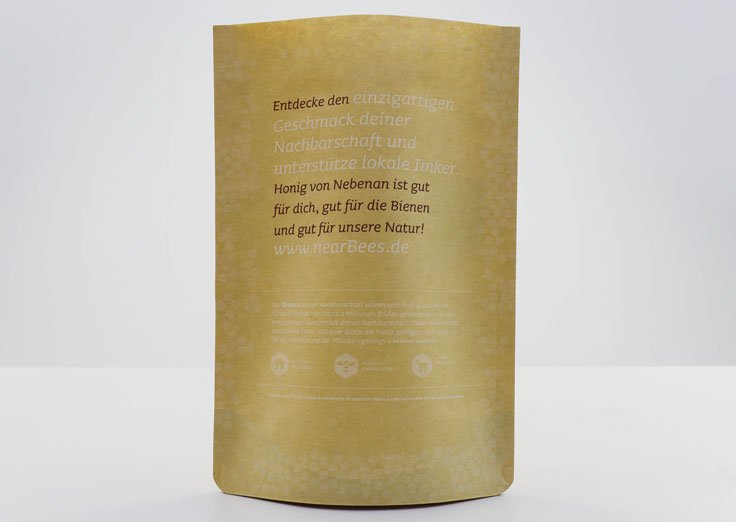 Custom Printed Matte Stand Up Kraft Paper Pouches