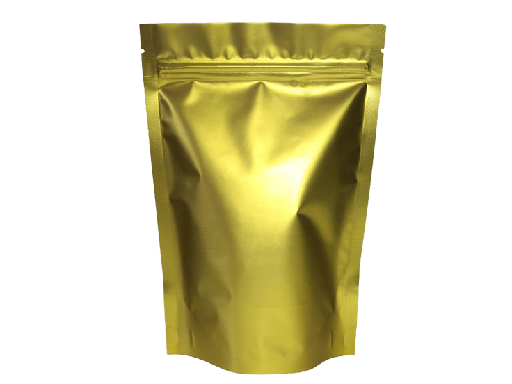 Gold matte stand up pouch