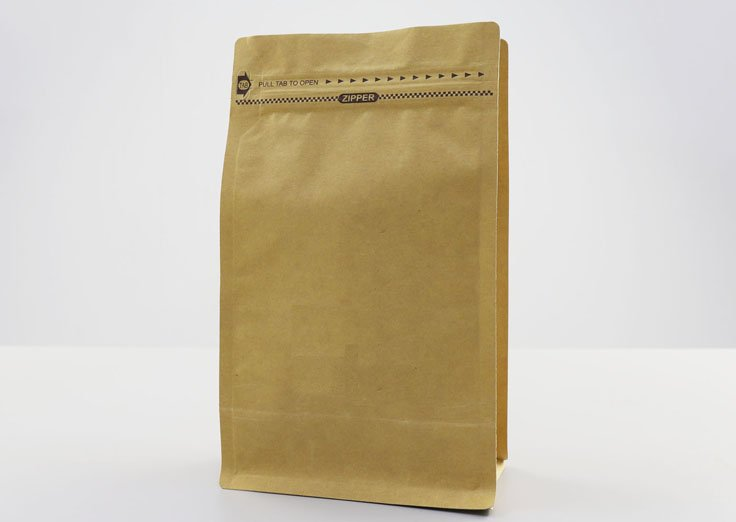 Brown Kraft Paper Pouches With Pocket Zipper