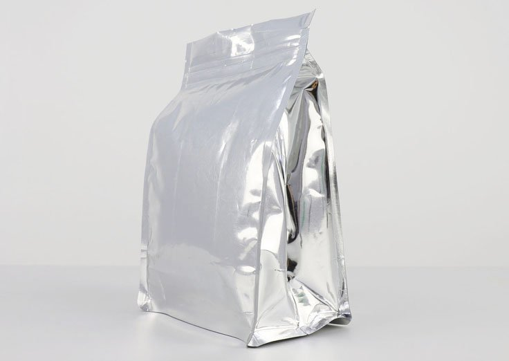 Aluminum Foil Quad Seal Flat Bottom Bags