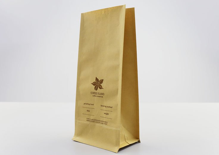 Brown Kraft Paper Pouches With Customized Printed