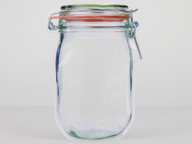 Bottle shaped Ziplock Pouch storage bag