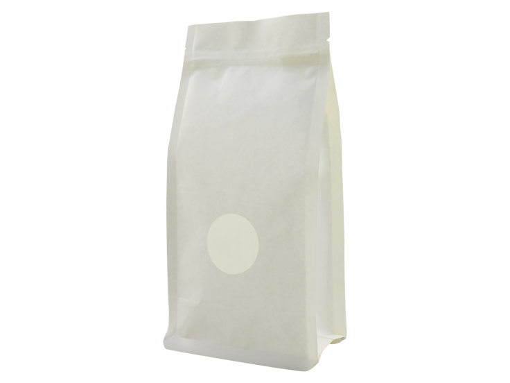 White kraft paper stand up pouches with Window