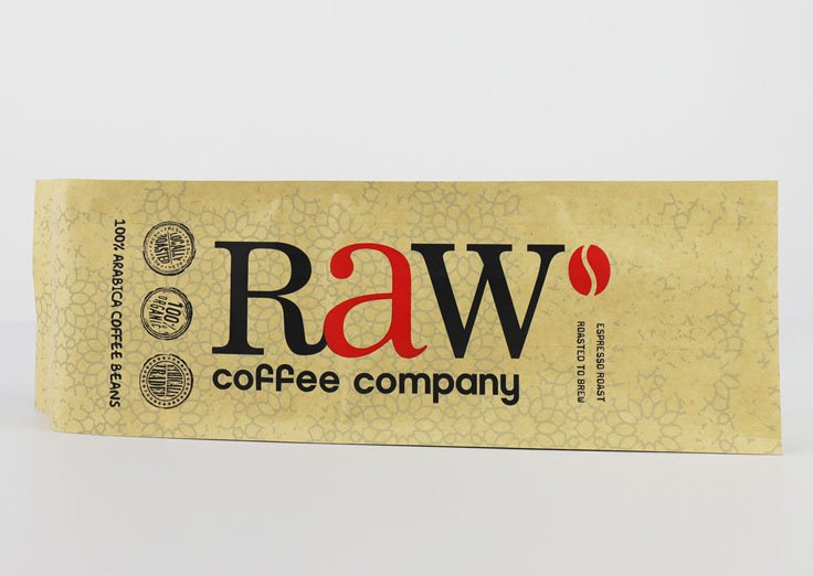 Side Gusset Brown Kraft Paper Pouches with Customized Printed