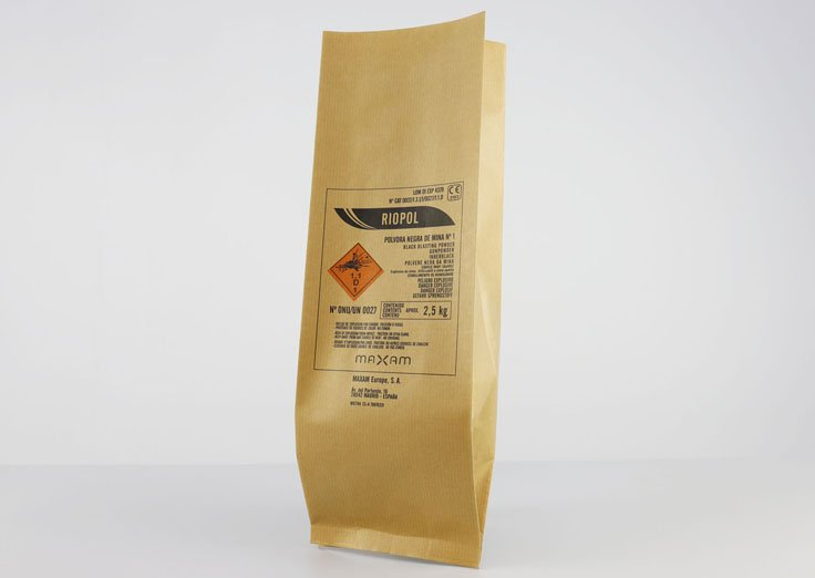 2.5kg Side Gusset Brown Kraft Paper Pouches with Customized Printed