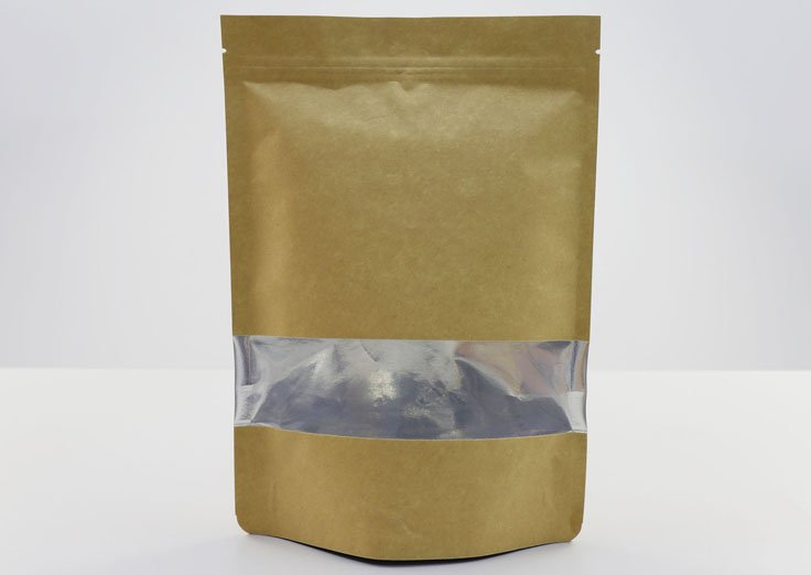 Kraft Paper Stand Up Aluminum Foil Bags with Window