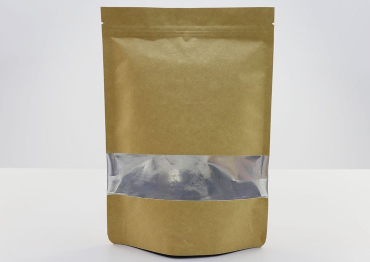 Aluminum Stand Up Kraft Paper Pouches with Window
