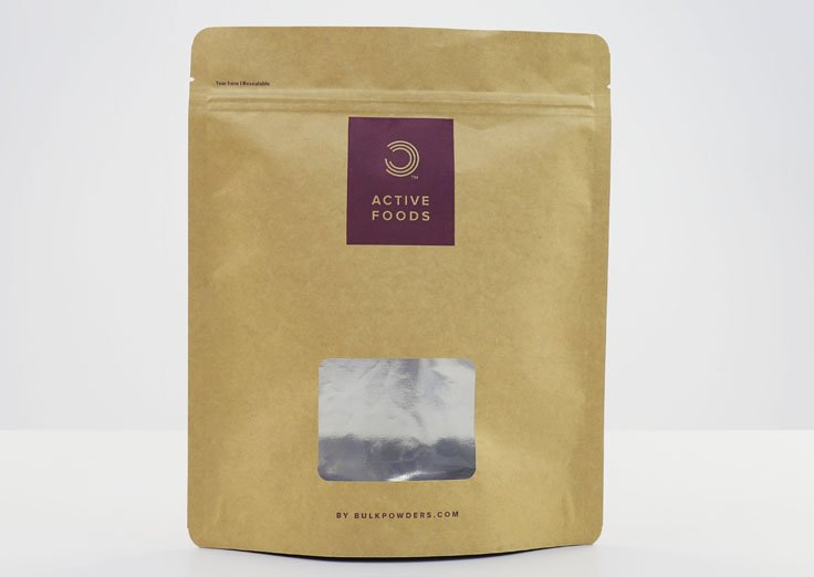 Aluminum Stand Up Kraft Paper Pouches with Resealable Ziplock