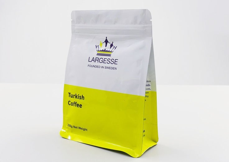 200g Quad Seal flat bottom coffee bag
