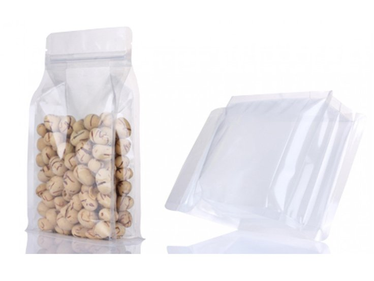 Flat bottom Stand up pouch with ziplock for food