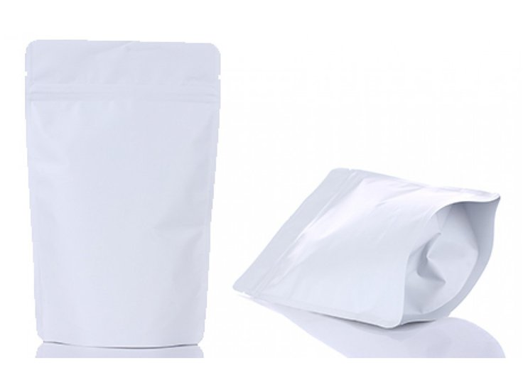 White printing stand up pouch with ziplock