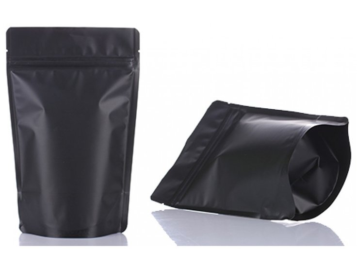 stand up ziplock pouch with Black printing