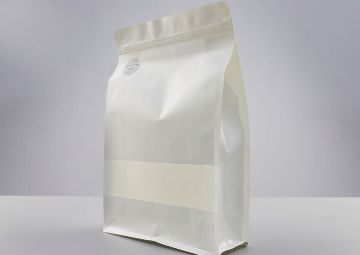 White Kraft Paper Pouches With Transparent Window