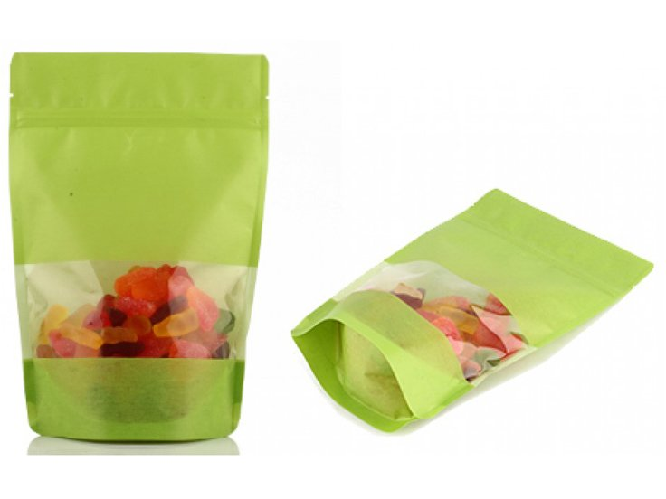 stand up ziplock pouch with Rice paper