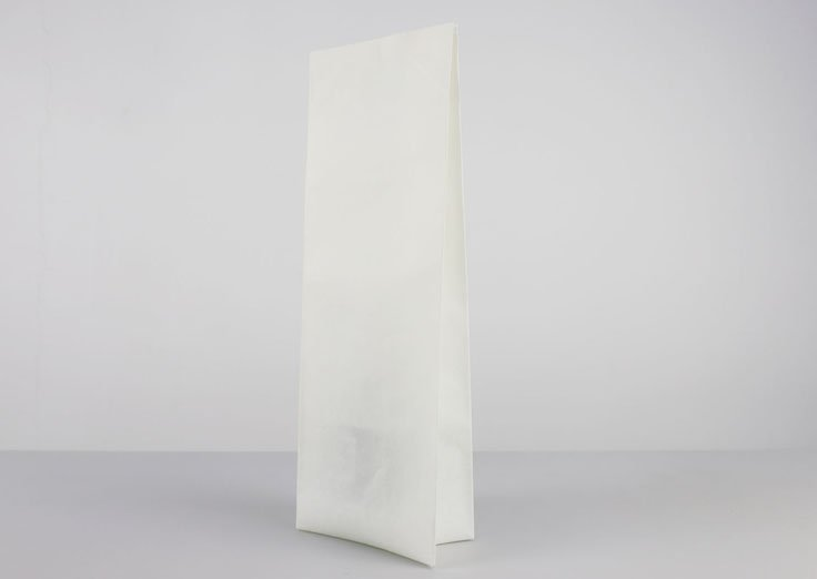 Side Gusset White Kraft Paper Pouches