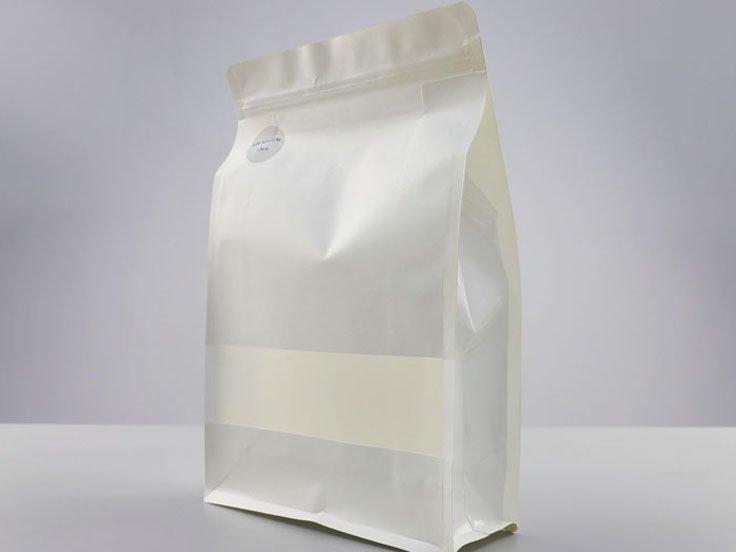 White kraft paper Ziplock Pouch with window