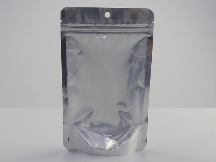 Mylar bag with zipper