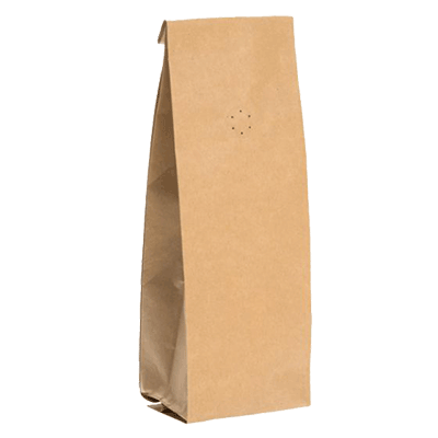 Kraft side gusseted pouches