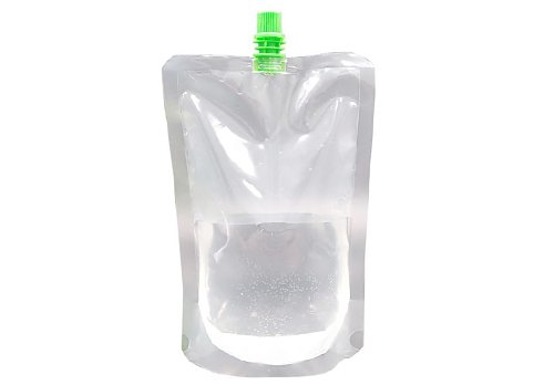clear drink pouch