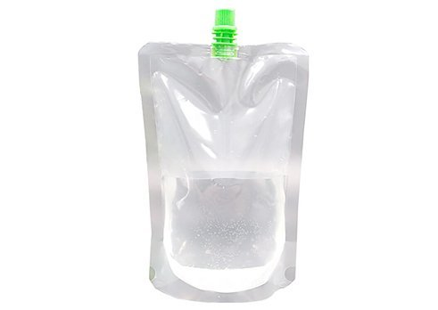 clear wine pouch