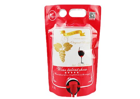 custom red wine pouch