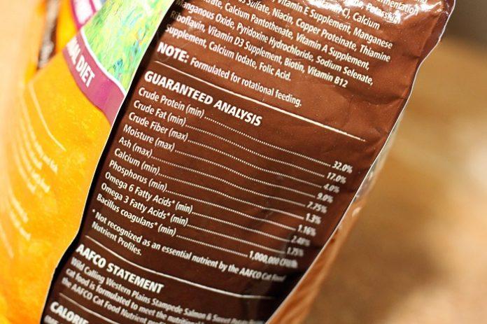 pet food bag oils