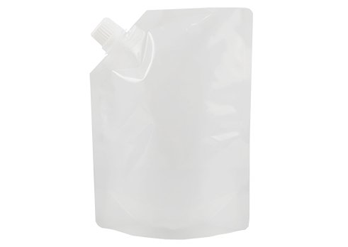 white stand up drink pouch