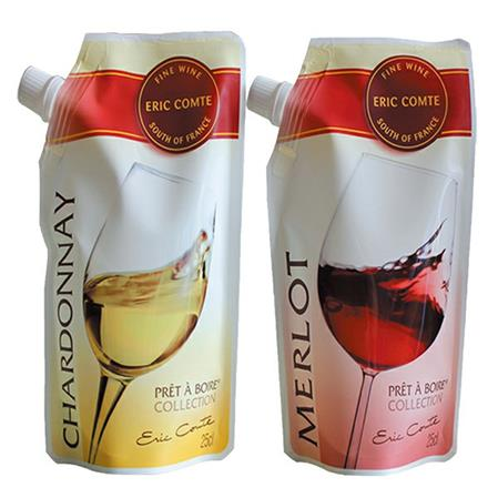 wine pouch tap on top