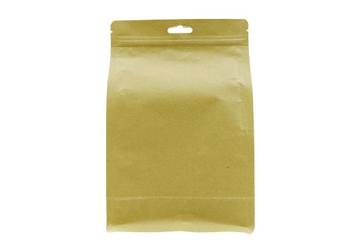Brown kraft paper coffee pouch with zipper and eruohole