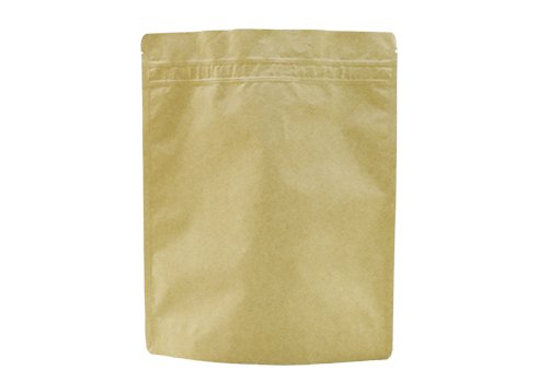 Brown kraft paper stand up coffee pouch with zipper
