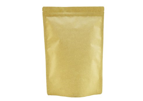 Brown kraft paper unprinted stand up coffee pouch with zipper