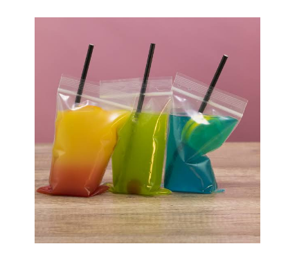 Figure 2 Clear Juice Pouches
