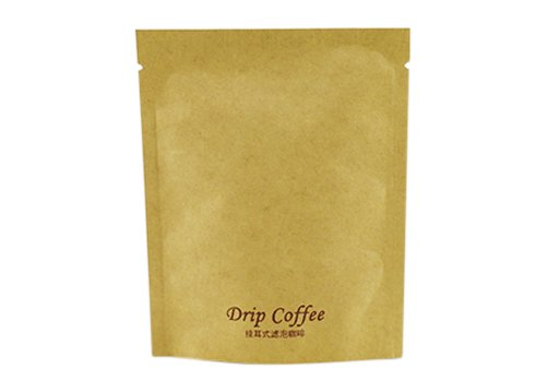 Kraft paper stand up coffee pouch with print