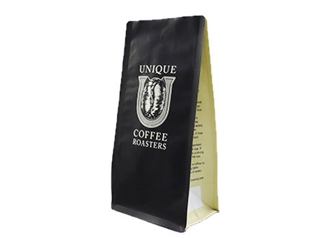 Roaster coffee flat bottom pouch with custom print