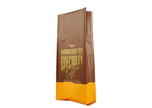 Side gusset printed coffee pouch with degass valve