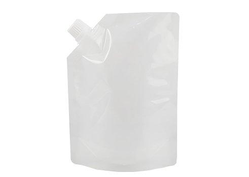 clear stand up liquid pouch with spout (2)