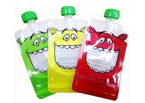 custom printing silicone squeeze pouches for children