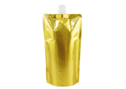 gold spouted liquid pouch