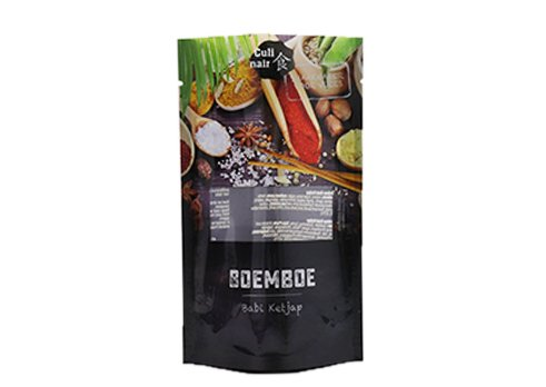 Customized printing flexible packaging stand up window pouch for spice