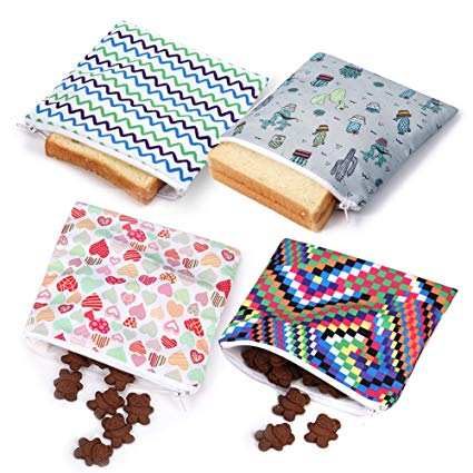 reusable snack pouches