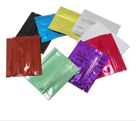 Multi coloured snack pouches