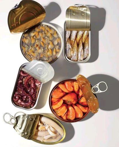 Seafood tin packaging