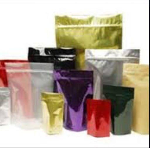 multi coloured flexible pouches