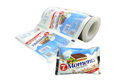 Aluminum foil flexible packaging film for snack pouch with customized printing