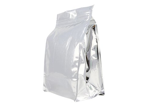 aluminum foil flexible packaging pouches Quad seal flat bottom bag for 1500g coffee with resealable ziplock