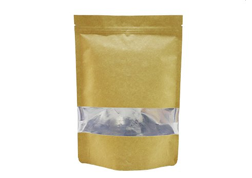 aluminum foil flexible packaging recyclable stand up window pouch bag for coffee with resealable ziplock